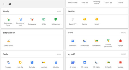Google Now está probando interfaz llena de iconos para facilitar tus búsquedas
