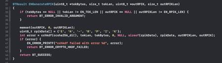 Generación del RPIK o Rolling Proximity Identifier Key, a partir de la Temporary Exposure Key (TEK)