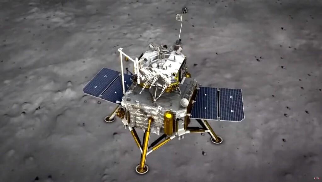El lander Chang'e 5 chino, tras recoger con éxito muestras de la Luna, ha terminado congelando en la superficie lunar