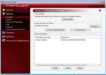 Antivirus gratuitos: Forticlient