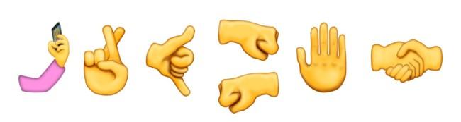 Unicode 9 Emoji Gestures