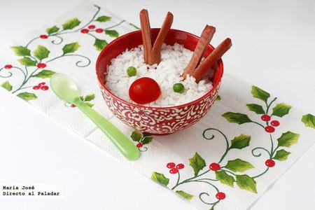 Renos de arroz. Receta de Navidad para niños