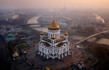 14 Cathedral Of Christ Moskva River