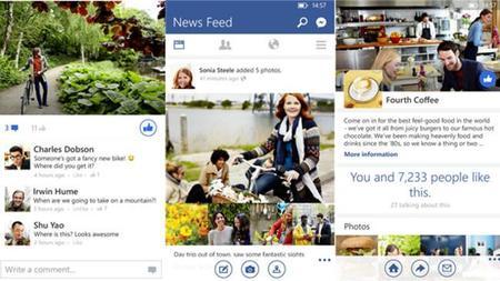 Facebook se actualiza en Windows Phone con nuevo diseño y mejoras en el rendimiento