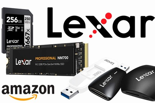 Ofertas de Amazon en dispositivos Lexar: tarjetas de memoria, lectores de tarjetas, discos SSD y pendrives a los mejores precios