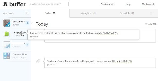Buffer renueva su web y la aplicación para iPhone con nuevas funcionalidades