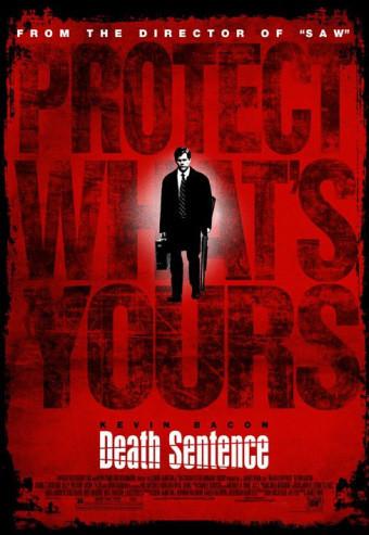 Posters de 'Death Sentence', Kevin Bacon en manos de James Wan
