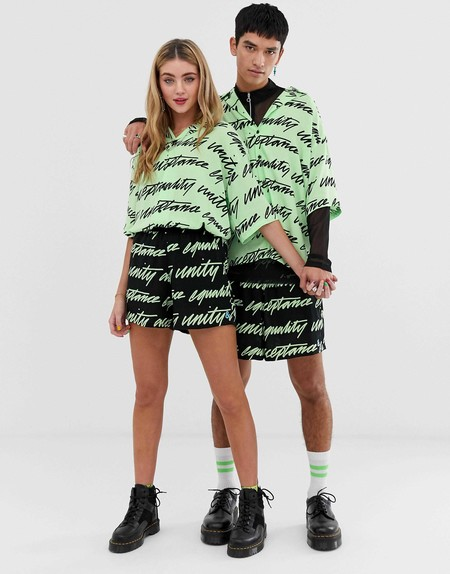 Asos Design X Glaad Unisex Short Co Ord In Unity Print 2