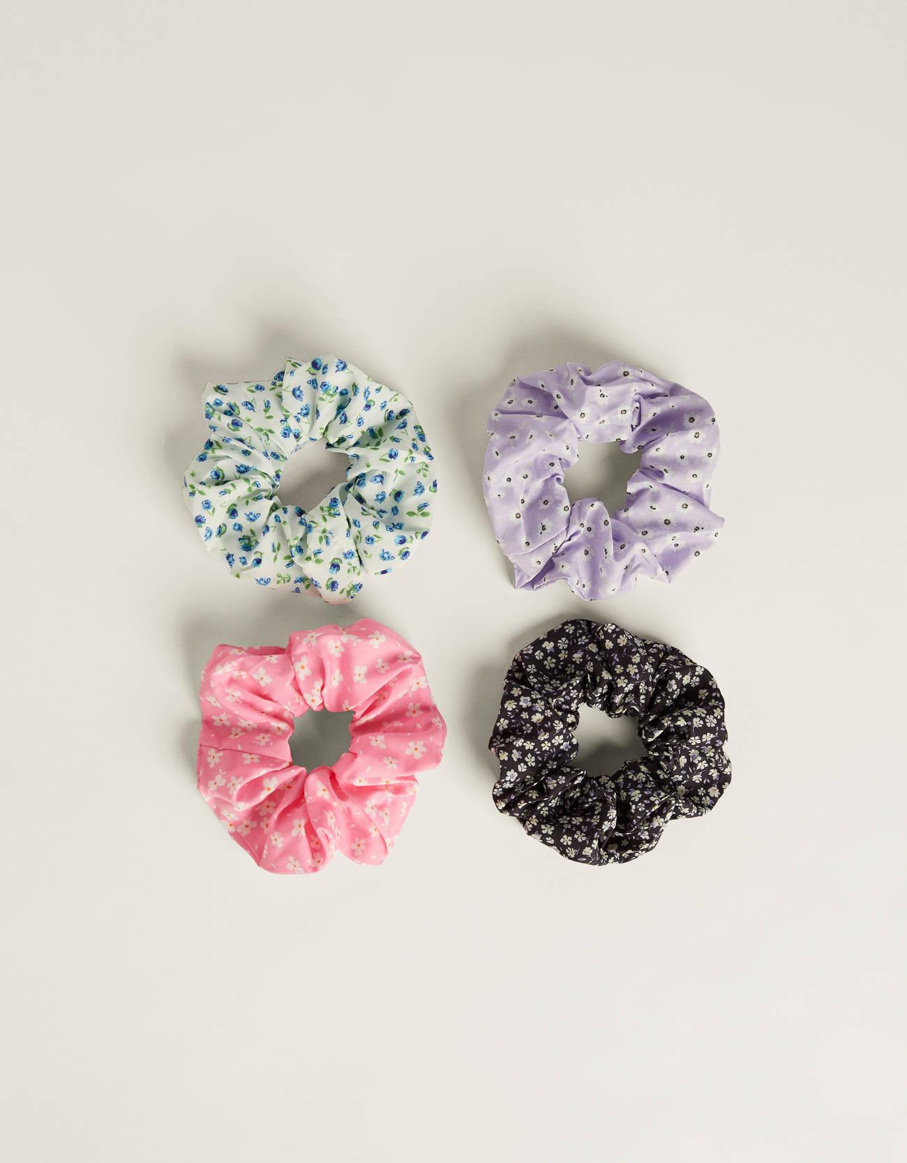 Pack de cuatro coleteros de flores