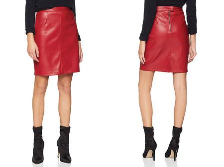 Noisy May Nmpenny Pu Skirt Noos Falda Para Mujer