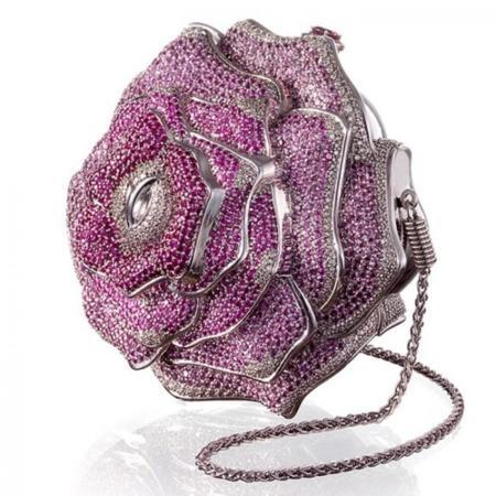 Judith Leiber Precious Rose Bag