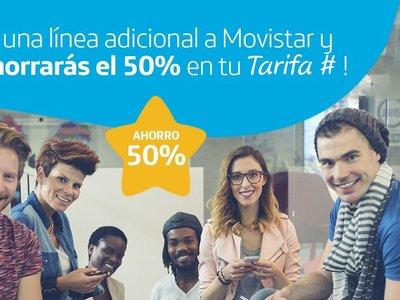 Los descuentos en líneas adicionales llegan a Movistar: 50% de descuento en sus tarifas de contrato