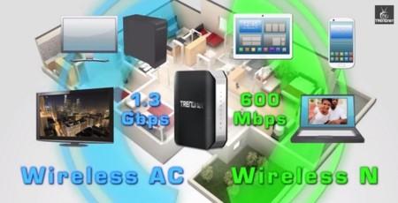 TRENDnet TEW-818DRU, router WiFi AC con USB 3.0