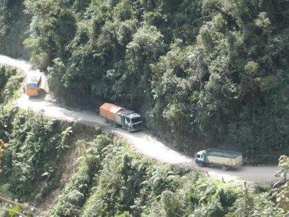 Carretera de la muerte Yungas Bolivia