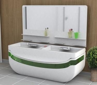 Lavabo y bañera, dos en uno