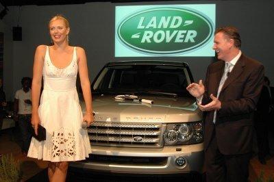 Maria Sharapova en Nueva York con Land Rover