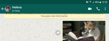Cómo enviar un GIF animado por WhatsApp