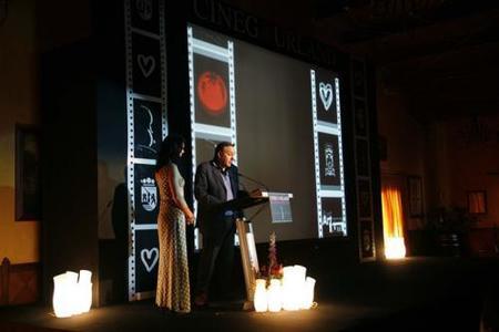 Pepe Barrena director de Cinegourland en la presentación de una edición anterior