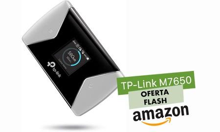 Para tener conexión a internet en cualquier parte este verano, hoy Amazon te deja el router 4G TP-Link M7650 por sólo 142,99 euros si eres usuario Prime