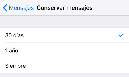 Caducidad Mensajes Iphone 1