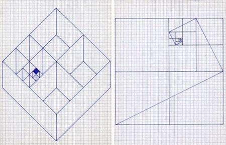 Aparador de proporciones áureas basada en un diseño de espiral