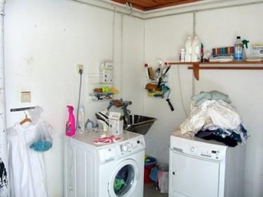 Antes y después: una zona de lavado