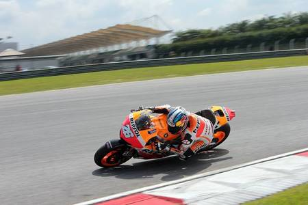 Dani Pedrosa se rubrica como el piloto a batir tras el último día de test en Sepang