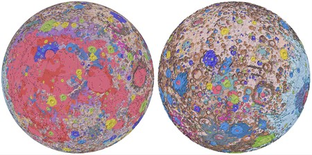 Este colorido mapa es el plano más detallado que tenemos de la geología de la Luna