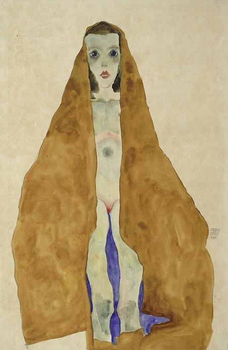 Joven Desnuda En Ocre, Schiele, 1911