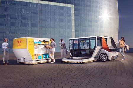 Adiós a recargar: el Rinspeed MetroSnap es un minibús eléctrico y autónomo que intercambia la carrocería para estirar la autonomía