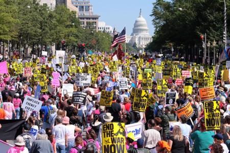 Protesta contra la Guerra de Irak, por Ragesoss