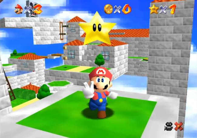 El gran clásico Super Mario 64 jugado en un iPhone 6 desde su navegador