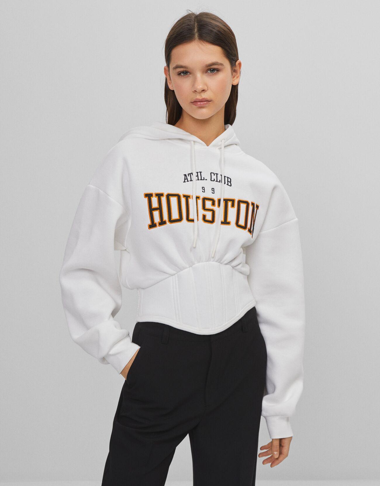 Sudadera Houston con capucha y corset