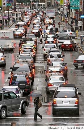 La inutilidad de cambiar de carril constantemente cuando hay congestión de tráfico