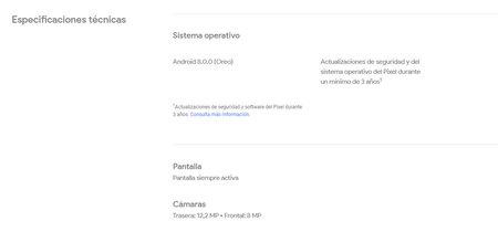 Los Google Pixel 2 recibirán tres años de actualizaciones del sistema y de seguridad