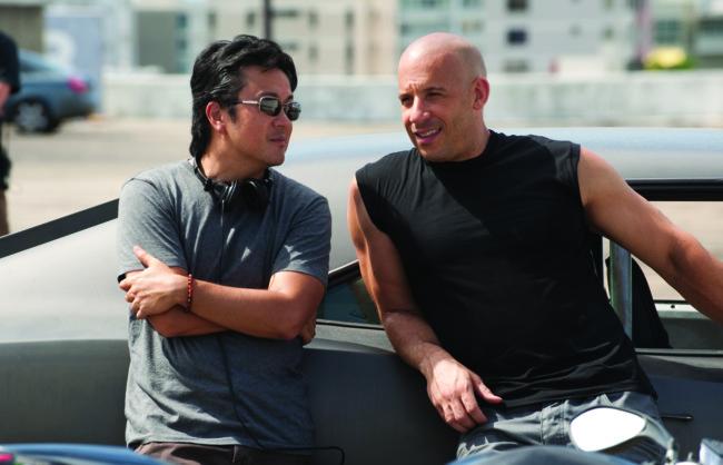 Justin Lin con Vin Diesel