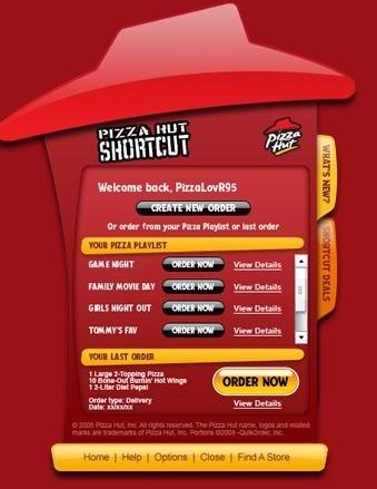 PizzaHut ShortCut, pide tus pizzas desde el escritorio