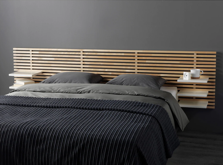 Cabecero de cama con estantes