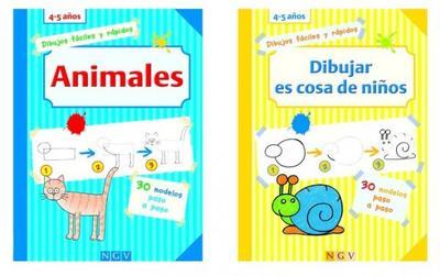 Dibujos paso a paso, unos libros que retan a los pequeños artistas