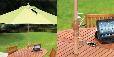 Una sombrilla que recarga nuestros gadgets con energía solar [Ideas para el verano]