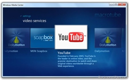 Youtubeinwindows7mediacenter