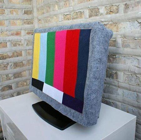 Hazlo tú mismo: una funda de fieltro para el televisor