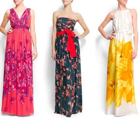 Vestidos de flores de Mango