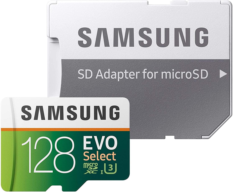 microSD Samsung: EVO Select 128GB U3 Clase 10 con daptador