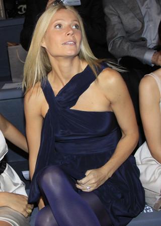 Gwyneth Paltrow en el desfile de Adolfo Domínguez