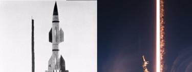11 fotos que reflejan el espectáculo de los lanzamientos de cohetes (y su evolución en 70 años)