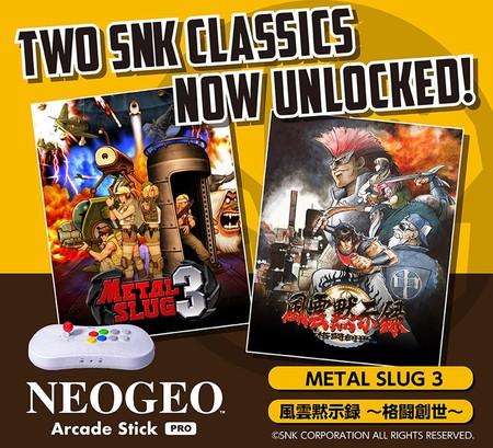 Metal Slug 3 y Savage Reign son los siguientes clásicos que se pueden desbloquear gratis para NeoGeo Arcade Stick Pro