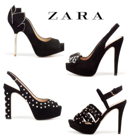 Zara zapatos tacón navidad 2011