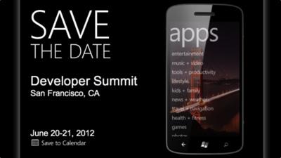 Microsoft redondea el mes de junio anunciando su Developer Summit de Windows Phone