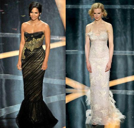 Nicole Kidman y Halle Berry dos bellezas sobre el escenario en los Oscar's 2009